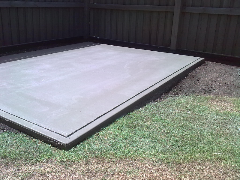 Pre Made Cement Slab : Custom sizes pads installs ‹ a garden sheds